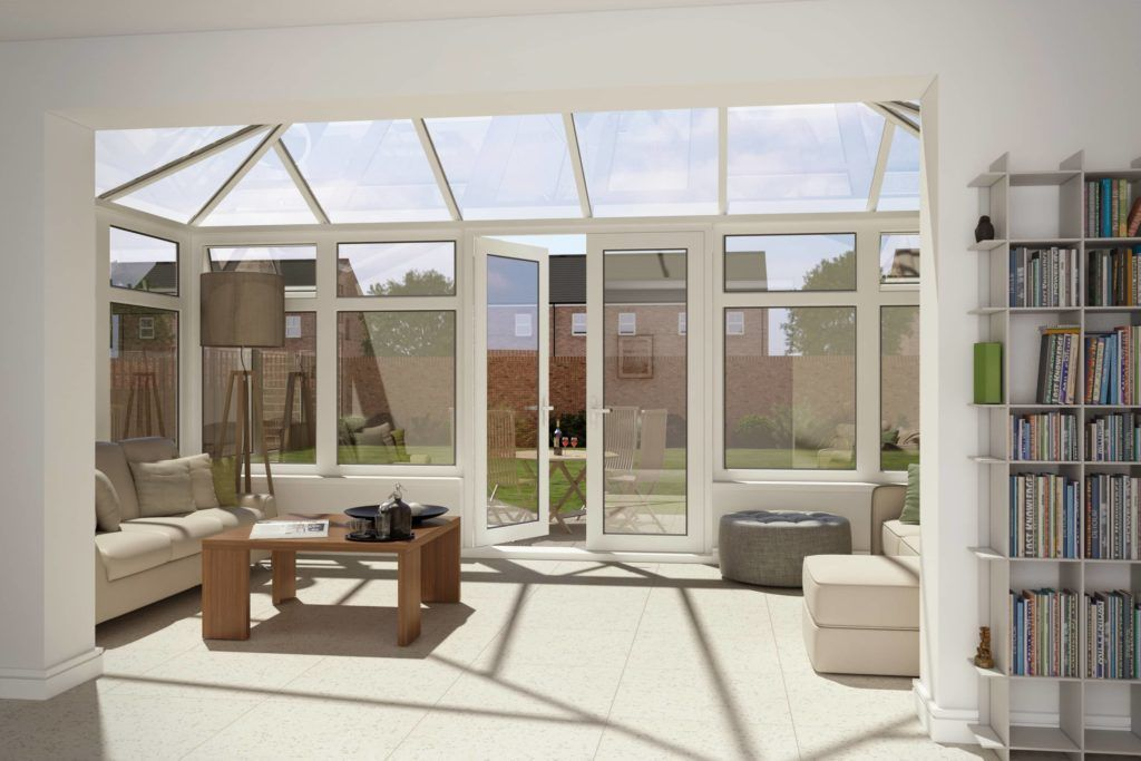 Edwardian Conservatory Internal View 3D Visualisation conservatory roofing