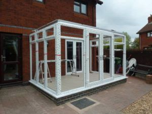 DIY Hipped Lean-to Conservatory side view - Mr Jeff May