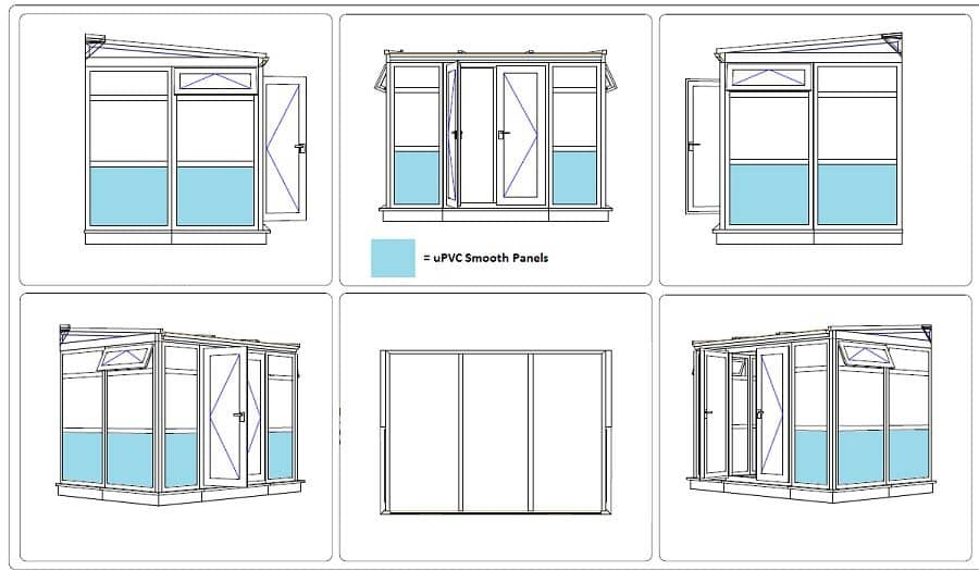 DIY Lean-To conservatory CAD drawing - Mr Brown